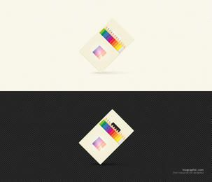 Color Pencil Icon with Packet