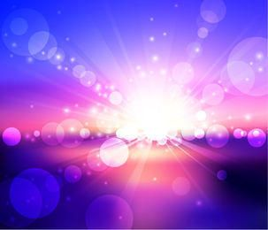 Sunlight Glares on Colorful Background
