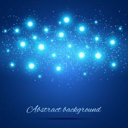 Abstract Shiny Glares Blue Background