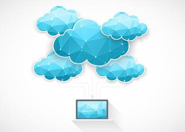 Blue Cloud Computing Concept