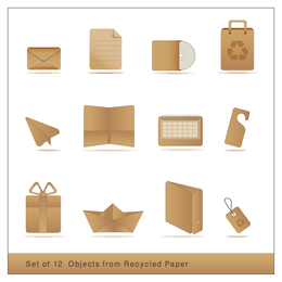 Objects from recycled paper