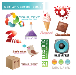 Threedimensional Icon Vector