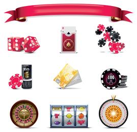 Gaming icons set