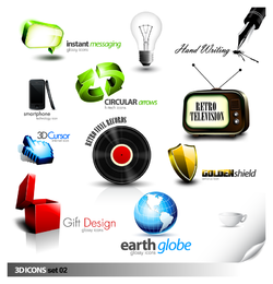 Misc objects icons and logos