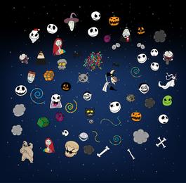 Halloween icons illustrations
