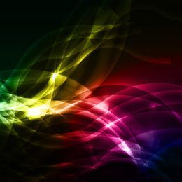 Colorful Overlapping Curves & Waves Background