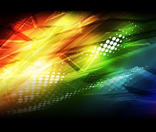 Colorful Abstract Dirt Lines & Halftone Background