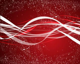 Red Abstract Splatters Background with Waves