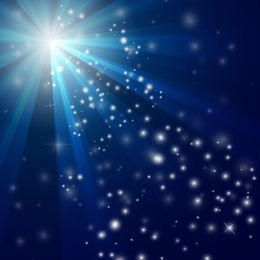 Sun Glares & Snowy Sparkles Blue Background