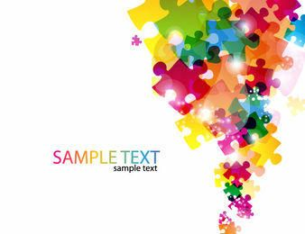 Colorful Glossy Puzzles Business Background