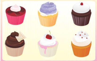 Free vector cupcakes