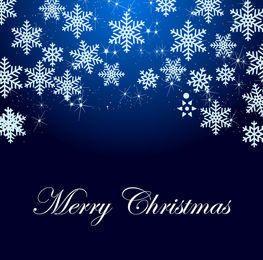 Snowflakes & Sparkles Blue Xmas Background