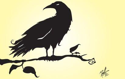 Vector silueta Crow