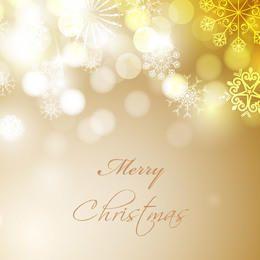 Bokeh Glares with Snowflakes Elegant Christmas Background