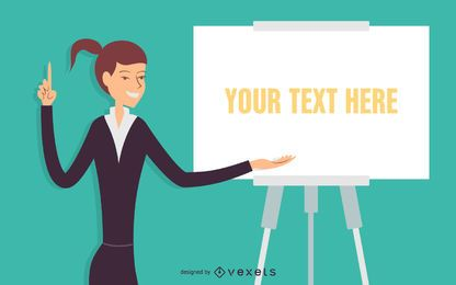 Business woman presentation illustration