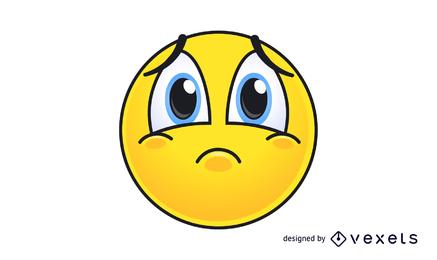 Cute and sad icon vector