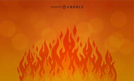 Flame fire backdrop design