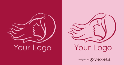 Hair Salon Logo Template Vector