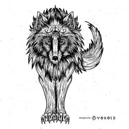 Vector de lobo