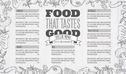 Plantilla de diseño de menú de restaurante