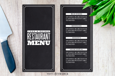 Vector Elegant Menu