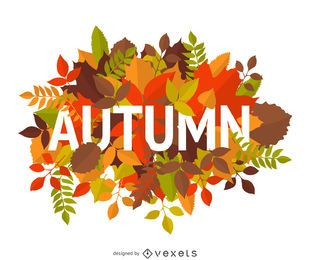 signo del otoño con las hojas