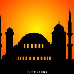 Mosque silhouette illustration