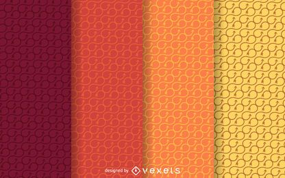 Warm tones infinity patterns