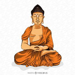 Buddha meditating illustration