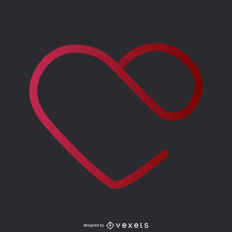gradient heart logo template vector download