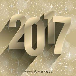 3D 2017 gold poster