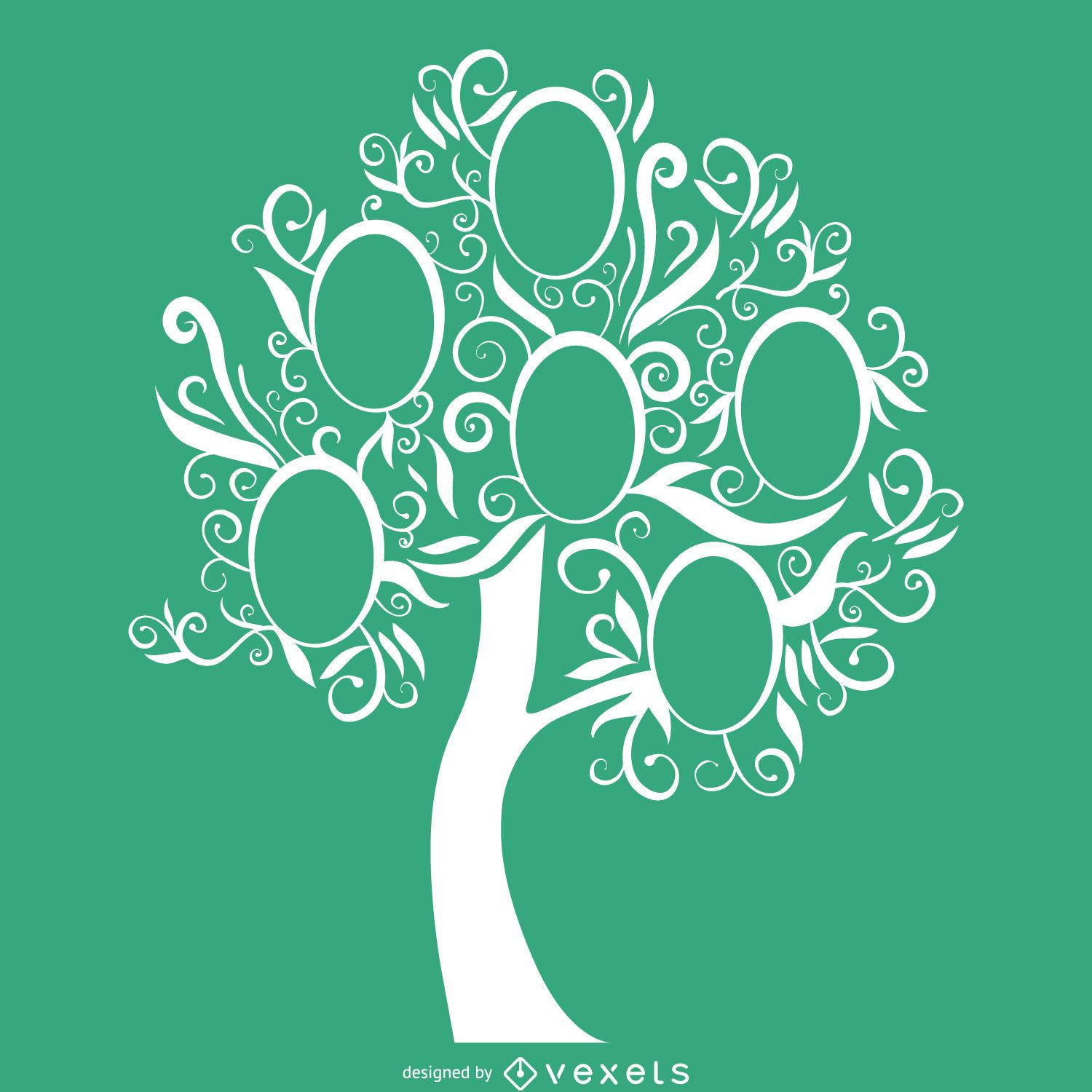 Green Family Tree Template Vector Download