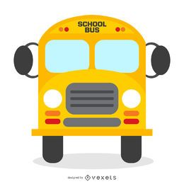Isolated school bus illustration