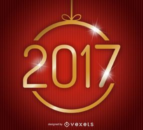 Minimalist ornament 2017 poster