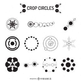 Crop circles illustration collection