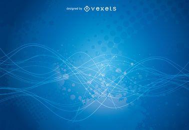 Blue grunge backdrop design