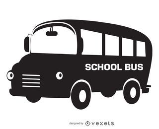 Isolated school bus silhouette design