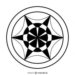 Abstract wheel crop circle design