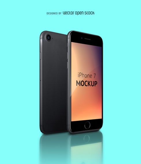 New iPhone 7 mockup PSD