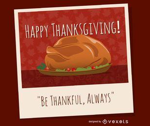 diseño del pavo de Acción de Gracias