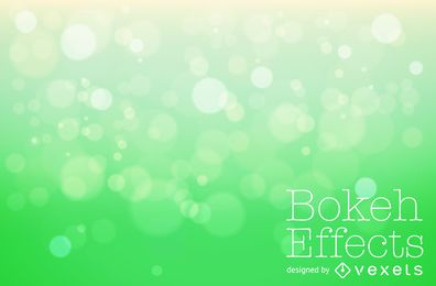 Gradient green bokeh background