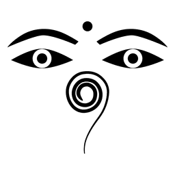 Buddhist buddha eyes icon