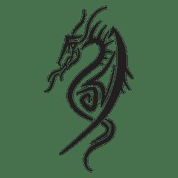 Dragón telas a rayas tribales