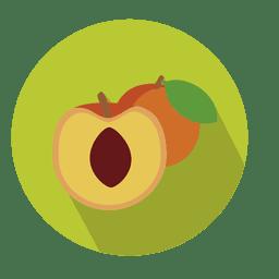 Apricot fruit circle icon