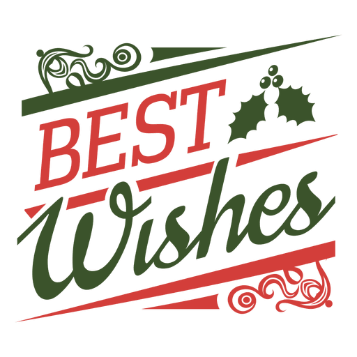 best wishes christmas typographic seal transparent png svg vector