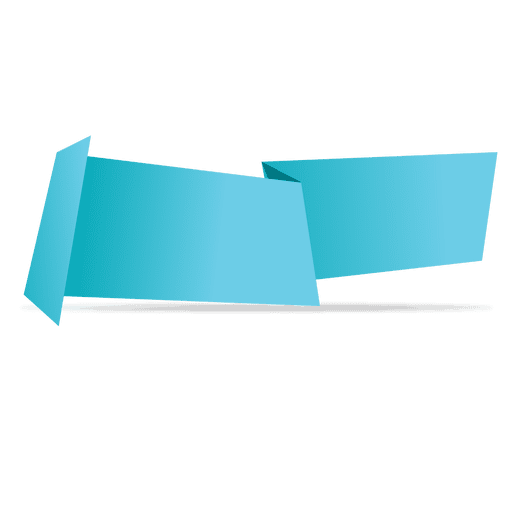 Blue horizontal origami banner Transparent PNG