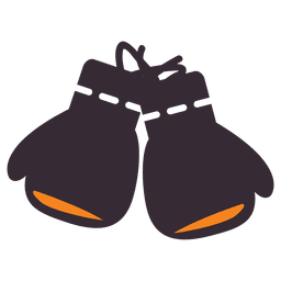 Flat boxing gloves icon
