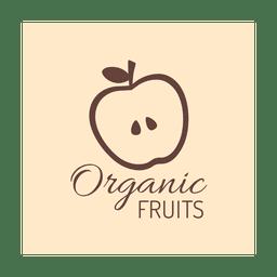 Brown organic fruit.svg