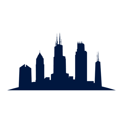 Chicago skyline cityscape silhouette Transparent PNG