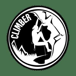 Climber camping badge